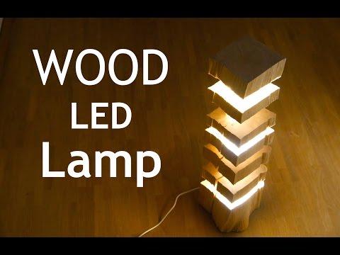 Feuerholz Lampe - LED Stehlampe im individuellen Stil