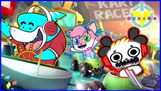 Nickelodeon Cart Racing SPONGEBOB & RUGRATS Let's Play with Combo Gil + Alpha Lexa