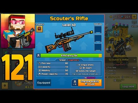 Pixel Gun 3D - Gameplay Walkthrough Part 121 - Scouters Rifle