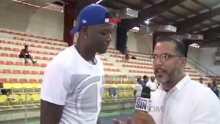 Ángel Luis Delgado comparte clínica de baloncesto con jóvenes de Haina