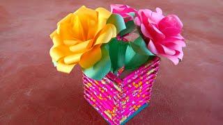 Make A Paper Flower Pot