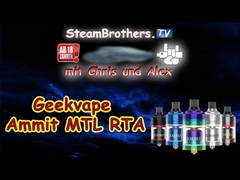 YouTube Video zu Geekvape Ammit MTL Selbstwickelverdampfer 4 ml