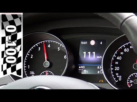 Golf Sportsvan Facelift 2018 1.5 TSI ACT (130 PS) Beschleunigung 0-100 km/h, Acceleration 0-60 mph