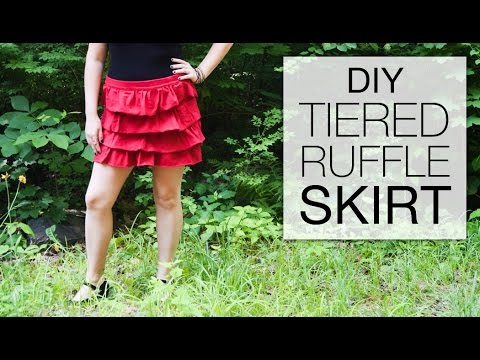 DIY Tiered Ruffle Skirt