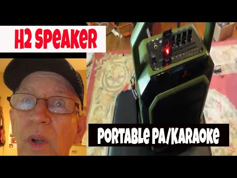 H2 Portable PA System.  Wireless mic, USB, Bluetooth, Karaoke.  Wow!