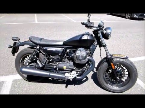 Moto Guzzi V9 Bobber - Start up and Sound