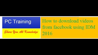 How to download youtube video using IDM