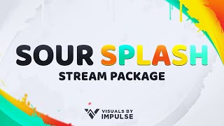 Sour Splash | Animated Stream Package | Twitch Overlays