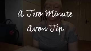 A Two Minute Avon Tip - Advertising to Territory Customers