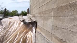 Опилкобетон 13 - Первая зимовка стен