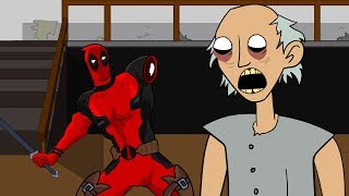 GRANNY THE HORROR GAME ANIMATION #4 : DeadPool Vs Scary Granny