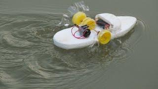 Wie man einen Mini Elektro Schaufelrad Boot machen - Machen Spielzeug