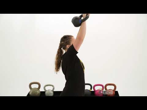 One Kettlebell Rotational Press