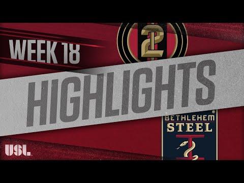 Atlanta United 2 - Бетлехем 2:1. Видеообзор матча 12.07.2018. Видео голов и опасных моментов игры