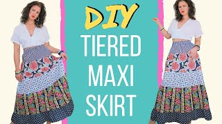 Lockdown Sewing Project | DIY Tiered Maxi Skirt Tutorial | How To Sew A Gathered Skirt