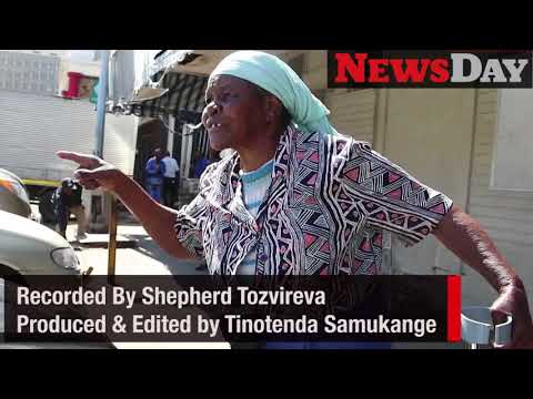 An elderly woman joins MDC Alliance protests