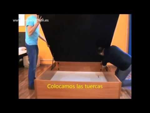 Como montar un canapé abatible de madera con base tapizada