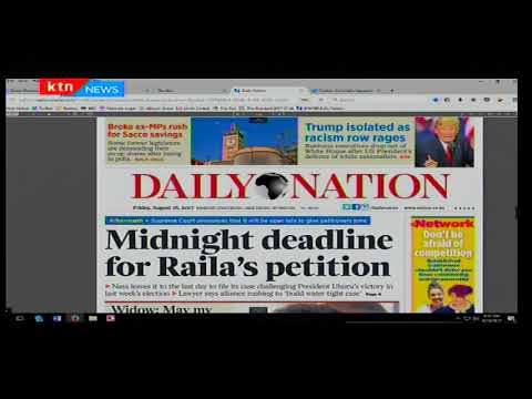 Midnight deadline for Raila Odinga's petition
