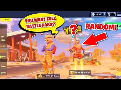 So I Offered A Random Player A Max Battle Pass