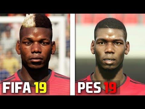 FIFA 19 vs PES 2019 Players Faces Comparison PSG - смотреть