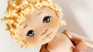 TUTORIAL Doll : How To Paint A Cloth Doll Face