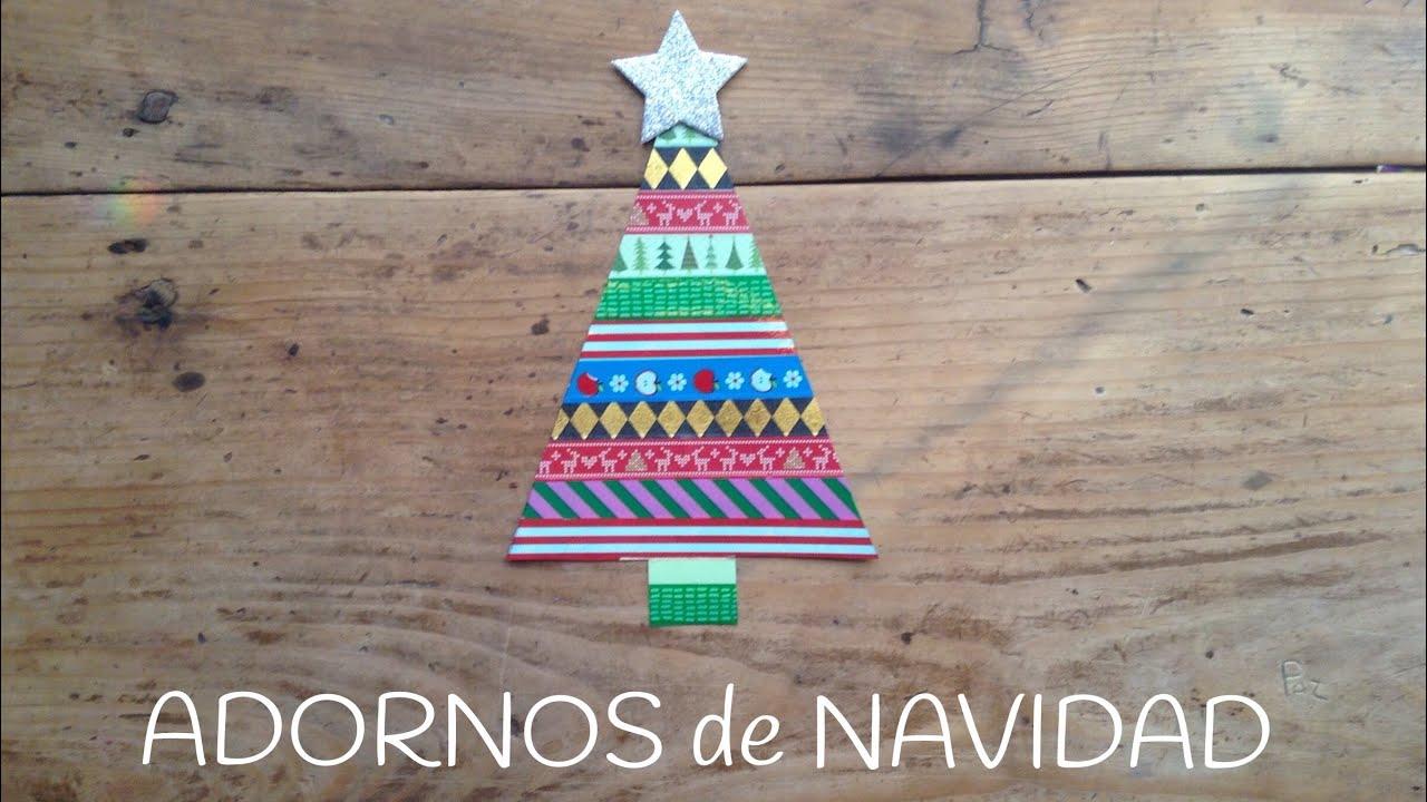 Árbol de navidad de WASHI TAPE  | Adornos de navidad para niños