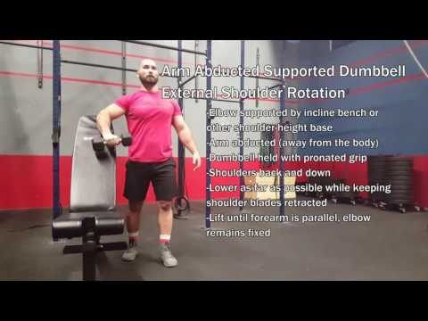 Arm Abducted Supported Dumbbell External Shoulder Rotation