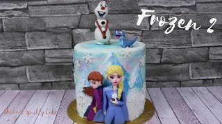 Frozen 2 Cake 2019 Elsa, Anna, Olaf and Bruni