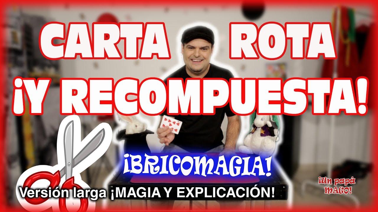TRUCO DE MAGIA | CARTA RECOMPUESTA | APRENDE MAGIA | BRICOMAGIA | is Family Friendly