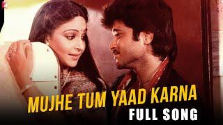 Mujhe Tum Yaad Karna - Full Song HD | Mashaal | Kishore