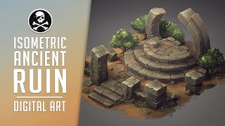 ANCIENT RUIN In ISOMETRIC Environment Game Art