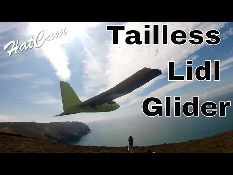 lidl-tailless-glider-on-the-slope
