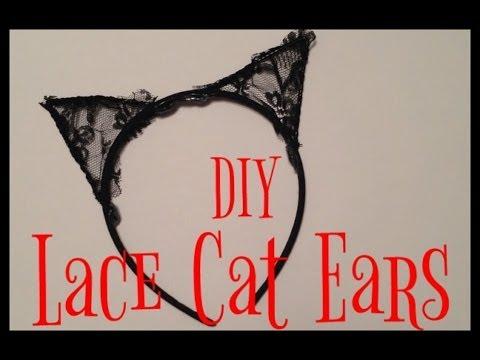 DIY Lace Cat Ears