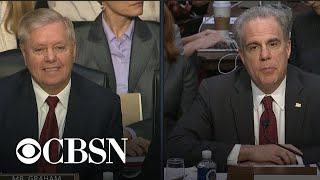 IG report hearing part 4: Lindsey Graham questions Michael Horowitz