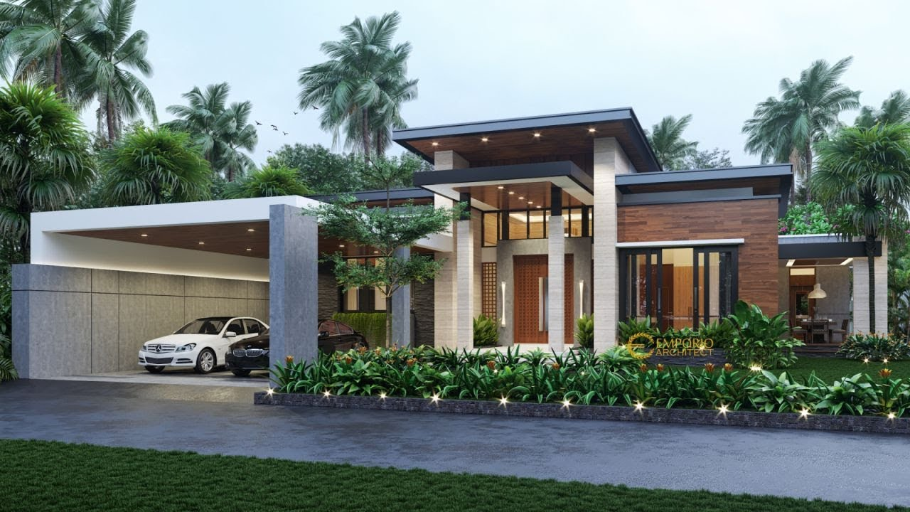 Video 3D Mrs. Fanny Modern House 1 Floor Design - Sambas, Kalimantan Barat