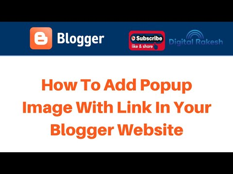 How to add popup image with link in your Blogger website
