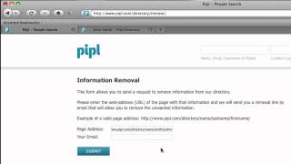 How To Remove Your Name In Pipl
