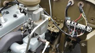 Ford GPW jeep first complete fuel system test run WW2