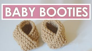 Knitted Baby Booties | Easy For Beginning Knitters