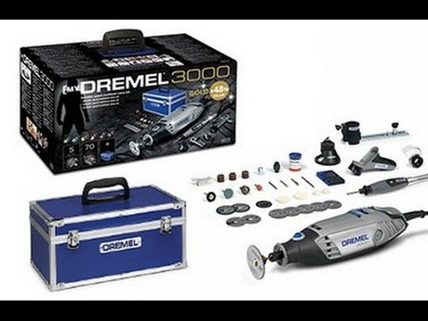 Dremel 3000 Gold Kit. Lets take a look. Part 2. Line & circle cutting attachment. (678)