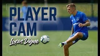 PLAYER CAM | LUCAS DIGNE STARTS TRAINING AT EVERTON