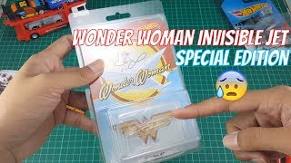 TERNYATA!...Special Edition Wonder Woman Invisible Jet Hot Wheels
