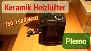 Plemo Keramik-Heizer-Heizlüfter 750/1500 Watt Unboxing und Review
