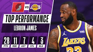 👑 LeBron James Was All Over The Floor In The Lakers Home Win!