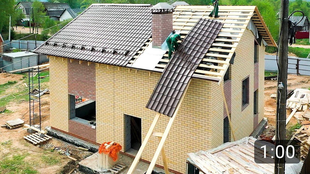 Недорогой дом с мансардой 110 м2