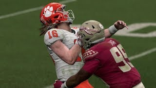 Madden 20 Gameplay Florida State Seminoles Vs Clemson Tigers – NCAA Rosters CPU Vs CPU Madden NFL 20