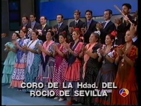 Coro rociero de la Hdad de Sevilla - Sorpresa a Maria del Monte en Antena 3 Tv