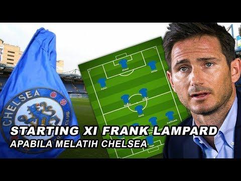 Starting XI  yang di terapkan Chelsea Saat Melawan Manchester united di bawah Pelatih Frank Lampard