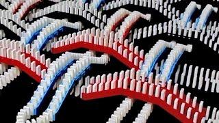 Rally espetacular feito com dominós