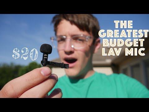 AMAZING Cheap $20 Lav Mic Review! [Purple Panda Microphone]
